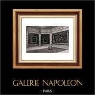 Décoration - Salons - Palais de l'Exposition - Bruxelles (Antoine Van Dyck) | Héliogravure originale sur papier velin de Hollande Van Gelder Zonen. Anonyme. 1910