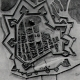 DÉTAILS 01 | Plan d'Ostende avant le Siège (1601) - Guerre de Quatre Vingts Ans - Révolte des Pays Bas