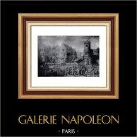 Toile - Marché aux Poissons - Musée de Malines | Héliogravure originale sur papier velin de Hollande Van Gelder Zonen. Anonyme. 1910