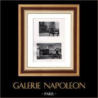 Wohnung -  Küche - Habitation Patricienne - Noblesse Romaine - La Cuisine | Original heliogravüre auf velinpapier von Holland Van Gelder Zonen. Anonyme. 1910