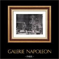 Nobility Dwelling - Dining Room - Habitation Patricienne - Noblesse Romaine - La Salle à Manger | Original heliogravure on vellum paper of Holland Van Gelder Zonen. Anonymous. 1910