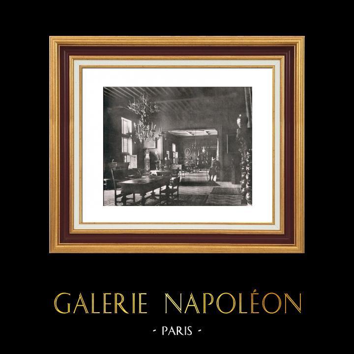 Gravures Anciennes & Dessins   Habitation Seigneuriale au Temps de Rubens - Vue d'Ensemble   Héliogravure   1910