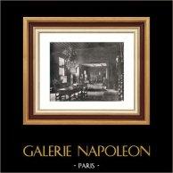 Habitation Seigneuriale au Temps de Rubens - Vue d'Ensemble | Héliogravure originale sur papier velin de Hollande Van Gelder Zonen. Anonyme. 1910