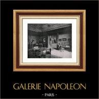 Picture of a Seigniorial House - Music Boudoir - Habitation Seigneuriale au Temps de Rubens - Boudoir Musical