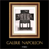 Antique Furniture - Ebony Cabinet - Cabinet en Ebène - Milieu du XVIIème Siècle