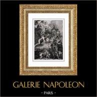 Mythology - Wedding of Maria de' Medici and Henry IV King of France - Angels - Junon - Jupiter (Peter Paul Rubens)