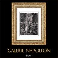 Matrimonio di Enrico IV con Maria de' Medici (Peter Paul Rubens) | Incisione su acciaio originale secondo Peter Paul Rubens incisa da Benoist. 1830