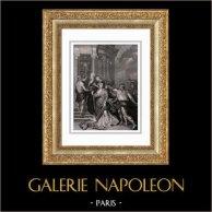Maria de' Medici - Mitologia - La Pace di Angers (Peter Paul Rubens) | Incisione su acciaio originale secondo Peter Paul Rubens incisa da Duthé. 1830
