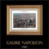 Egypten - Osmanska Riket  - Slaget vid Nasaret - Junot - Napoleon Bonaparte - Napoleonkrigen - 1799 | Original typogravure av Boussod & Valadon efter Armand-Charles Caraffe. 1890