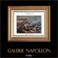 Egypten - Osmanska Riket  - Slaget vid Tabor - Kléber - Napoleon Bonaparte - Napoleonkrigen - 1799 | Original typogravure av Boussod & Valadon efter Cogniet & Philippoteaux. 1890