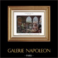 Campagna d'Egitto - Impero Ottomano - Israele - Generale Napoleone Bonarte Visita l'Ospedale per gli Appestati a Giaffa - Guerre Napoleoniche - 1799