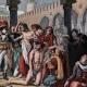 DÉTAILS 03   Campagne d'Égypte - Empire Ottoman - Israël - Le Général Bonaparte Visite l'Hôpital des Pestiférés à Jaffa - Guerres Napoléoniennes - 25 Mai 1799