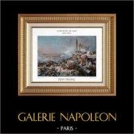 Napoleonic Campaign in Egypt - Ottoman Empire - Battle of Heliopolis - Kléber - Napoleon Bonaparte - Napoleonic Wars - 1800 | Original typogravure by Boussod & Valadon after Cogniet & Girardet. 1890
