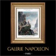 Italy - Aosta Valley - Napoleon Bonaparte in Albaredo Examines the Fort of Bard - Napoleonic Wars - 1800 | Original typogravure by Boussod & Valadon after Vivant Denon. 1890
