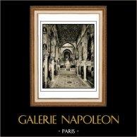 Chapelle Palatine - Palais des Normands - Cappella Palatina - Palazzo dei Normanni - Palerme - Sicile (Italie) | Héliogravure originale sur papier d'art. Anonyme. 1920