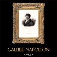 Portrait de Fulton Robert (1765-1815) - Inventeur Américain - Bateau à Vapeur | Gravure sur acier originale dessinée par Adèle J. de Maincy née Le Breton, gravée par Ferd. Goulu. 1835