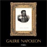 Portrait de Soeur Marthe (1816-1883) - Marthe Le Bouteiller - Religieuse Française Béatifiée | Gravure sur acier originale dessinée par Bertonnier. 1835
