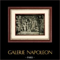 Italian Sculpture - Pulpit (Giovanni Pisano) - The Crucifixion | Original heliogravure on art paper. Anonymous. 1920