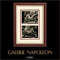 Sculpture Italienne - Chapelles des Médicis - Nu Artistique - La Nuit - Le Jour (Michel Ange)