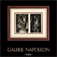 Sculpture Italienne - Groupes en Marbre - Queirolo - Le Rapt de Proserpine (Francesco Maria Schiaffino) | Héliogravure originale sur papier d'art. Anonyme. 1920
