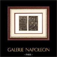 Sculpture en Belgique - Nativité - Sculptures Religieuses sur Ivoire | Héliogravure originale sur papier d'art. Anonyme. 1920