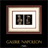 Belgian Sculpture - Woman Bust (L. Godecharle) - Princess Marie José de Belgique (Victor Rousseau)