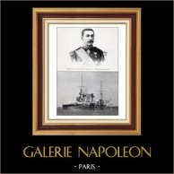 Ejército Francés - Buque de Guerra - Almirante Gervais - Acorazado Le Bouvet