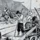 DÉTAILS 03   Guerre des Boers - Guerre du Transvaal - Boers Détruisant le Chemin de Fer à Kronstadt
