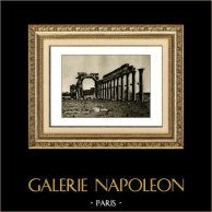 Kunst Alt Westasiens - Kolonnaden und Triumphbogen in Palmyra - Römische Period | Original heliogravüre auf kunst papier. Anonyme. 1920