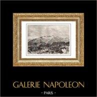 Pyrénées - Poset - Nethou - Massif de la Maladeta - Aragon (Espagne) | Gravure sur bois originale dessinée par T. Taylor, gravée par Charles Barbant. 1875