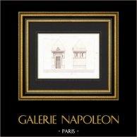 Dessin d'Architecte - Tombe - Cimetière de Montmartre - Paris (P. Gion Architecte)