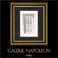 Architect's Drawing - House - Auteuil - Paris (Ch.  Naudet)