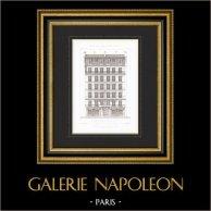 Architect's Drawing - House - Building - Cité Rougemont - Paris (M. Husson)