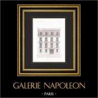 Architect's Drawing - House - Hotel - Rue de la Bienfaisance - Paris (M. Davioud)