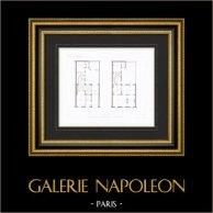 Architect's Drawing - House - Hotel - Rue de la Bienfaisance - Paris (M. Lance)