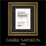 Architect's Drawing - House - Hotel of Prince Napoléon Bonaparte - Avenue Montaigne - Paris (France)