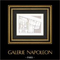Ritning av Arkitekt - Hus - Hotell av Napoléon Joseph Charles Paul Bonaparte - Avenue Montaigne - Paris (A. Normand)