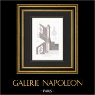 Architect's Drawing - House - Hotel of Prince Napoléon Bonaparte - Avenue Montaigne - Paris - Stairs