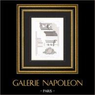 Architect's Drawing - House - Hotel of Prince Napoléon Bonaparte - Avenue Montaigne - Paris