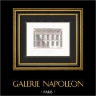 Architect's Drawing - Hôtel Carnavalet - 3rd Arrondissement of Paris - Façade de Jean Goujon - Les Quatre Saisons (France)