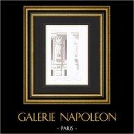 Dessin d'Architecte - Maison - Rue Ollivier - Paris - Caryatide (M. Laurancy Architecte)