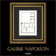 Dessin d'Architecte - Maison - Boulevard Haussmann - Paris (J. et P. Sedille Architectes)