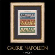 Décoration - Etude de lettres - Londres - Paris - Berlin