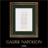 Disegno di Architetto - Carpentiere - XVII Secolo - Casa a graticcio