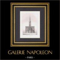 Ritning av Arkitekt - Kyrka Notre-Dame d'Oloron-Sainte-Marie - Pyrénées-Atlantiques (M. Lafollye)