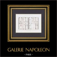 Disegno di Architetto - Hotel - Parc Monceau - VIII Arrondissement di Parigi (M. Pellechet)