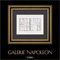 Bouwtekening - Hotel - Parc Monceau - 8e Arrondissement van Parijs (M. Pellechet)