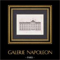 Ritning av Arkitekt - Skolar - Boulevard de Belleville - Paris (M. Salleron) | Original stålstick graverade av Maurage. 1875