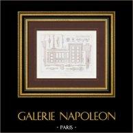 Desenho de Arquitecto - Carpintaria - Ferrovia de Norte - Gare du Nord - Paris (M. Reynaud)