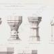 DÉTAILS 02 | Dessin d'Architecte - Bénitiers - Baptistères - Moyen Age - Renaissance